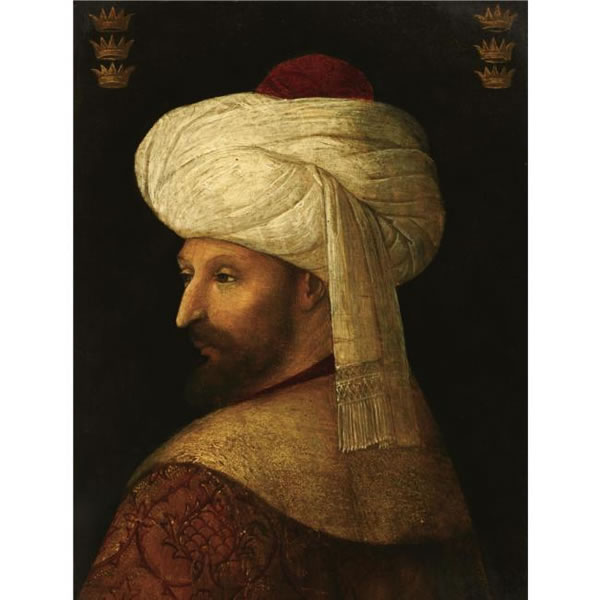 The Sultan Mehmet II painted by a follower of Bellini.