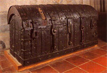 A medieval treasure chest.